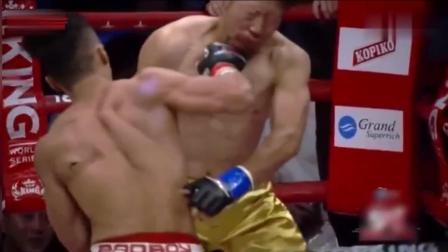 秒KO一拳断5牙, 辱华的日本人直接吐血倒地! 请记住他叫周志鹏