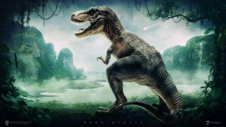 侏罗纪世界结尾霸王龙教牛龙做人