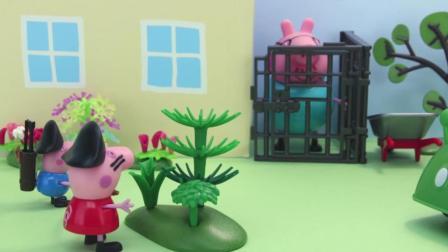 小猪佩奇和乔治玩海盗游戏