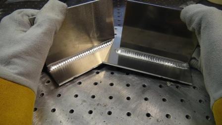小伙子新买的电焊机, 新手也能焊出漂亮的鱼鳞纹