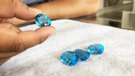 胖哥新学一招, 如何一眼辨别海蓝宝和托帕石, 一起来学下