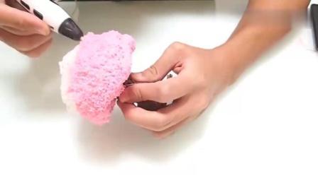 牛人用3D打印笔画出樱花树, 真好看!