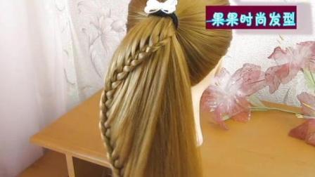 一款显气质的淑女发型, 时尚美发造型盘发扎发技巧, 瞬间变女神的发型