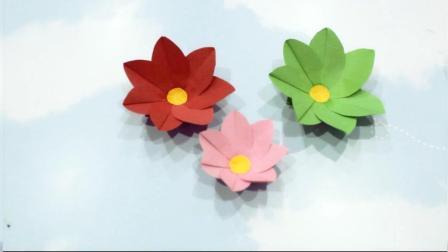 手工折纸教程漂亮简单的小花折纸