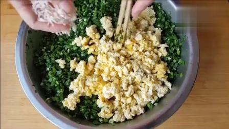韭菜盒子的懒人做法, 韭菜和馅不出水, 皮薄馅多, 2张就够全家吃