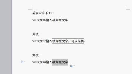 wps文档文字添加方框的两种方法