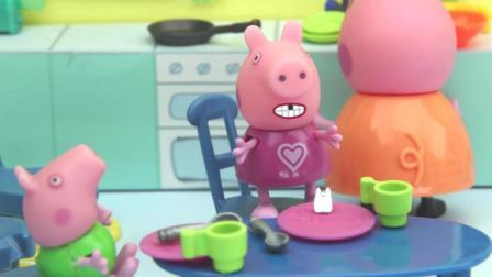 小猪佩奇佩奇的牙掉了牙仙子来了