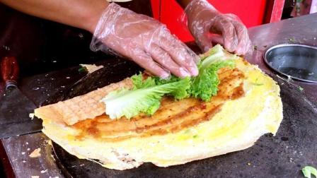 里外全脆的山东杂粮煎饼, 7块钱一套的好味道, 薄脆如纸香气扑鼻!