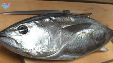 日本顶级厨师分割金枪鱼, 做出的寿司真是美味之极!