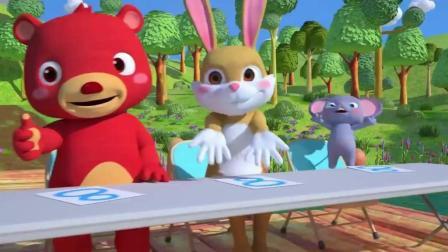青蛙赛跑 卡通动漫儿歌 英语童谣 少儿启蒙英语 儿童动画歌曲