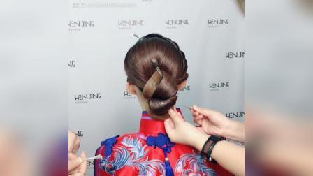 大气中式新娘造型 发型教程