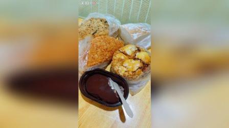 今天的早餐, 甜能量爆棚, 最好吃就是那海苔肉松面包