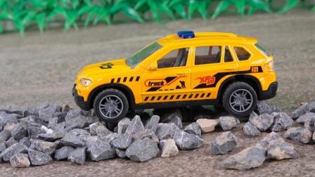 儿童玩具车视频 救援车工程车越野车合金汽车模型玩具