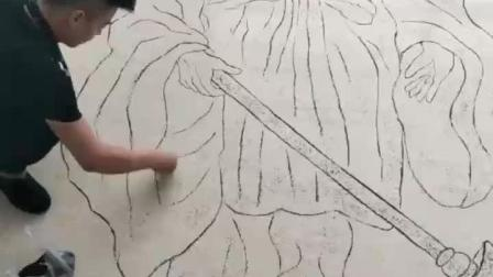 高人就是多, 牛人用黑芝麻作画, 太神奇了!