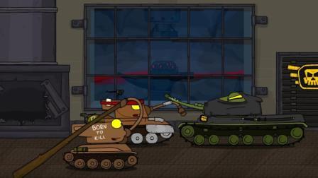 坦克世界动画: 你可以让我直接认输啊! 又何必拿出棒子伤感情呢?