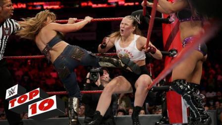 【RAW 09/10】十大精彩瞬间 米克弗雷现身 罗门伦斯将人间怪兽砸穿舞台