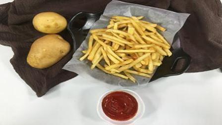 原来在家也能做外酥里嫩的炸薯条