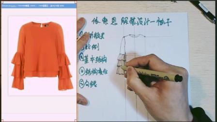 服装手绘款式图多层袖子画法
