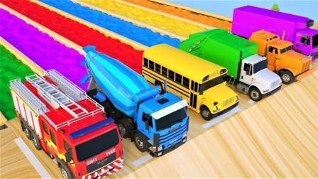混凝土搅拌车玩具来到汽车中心换新造型