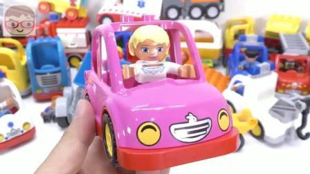 益智玩具: 卡车拖车汽车模型 DIY手工组合 趣味儿童智力玩具 积木拼装玩具