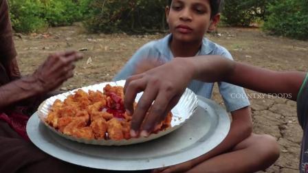 印度脆皮炸鸡, 鲜嫩的鸡肉裹上面包糠炸直金黄