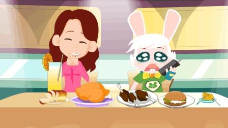 搞笑动画短片《没钱吃饭》