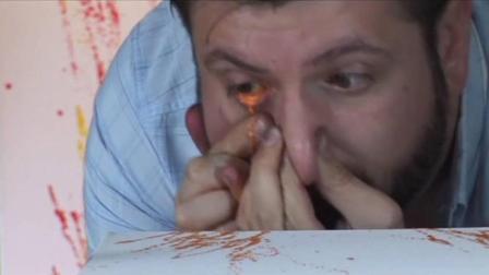 阿根廷最牛画家用眼睛画画一幅卖17000