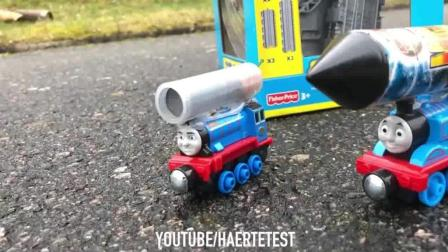 thomas and friends trains toy 03 托马斯小火车 玩具分享英语rocket powered