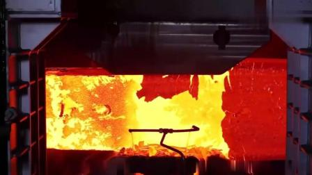 德国巨型钢铁锻造技术就是厉害了! 不愧是工业大