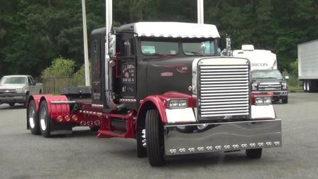 国外牛人驾驶大型卡车倒车出库, 车好驾驶技术更