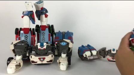 变形恐龙玩具三角龙5合体变形机器人 贝利亚奥特曼玩具