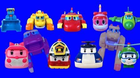 变形汽车系列玩具 警车珀利和帮帮龙探险队