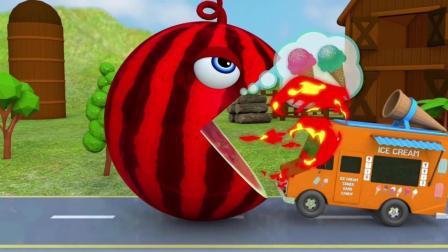 趣味益智动画片 巨型大西瓜吃冰激凌