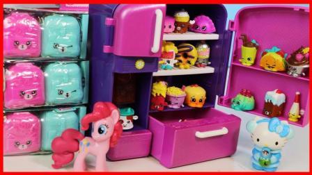 小马宝莉与凯蒂猫的购物精灵Shopkins冰箱玩具