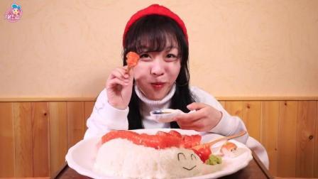 大胃mini 超大只三文鱼饭团, 小仙女论斤吃才能吃