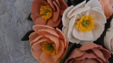 放置很久也不会变色的不织布花朵, 简单易学