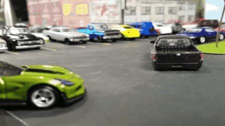 好玩的玩具车: 多种颜色玩具车 款式不同玩具车 跑车 小轿车 皮卡开起来 倒车入库