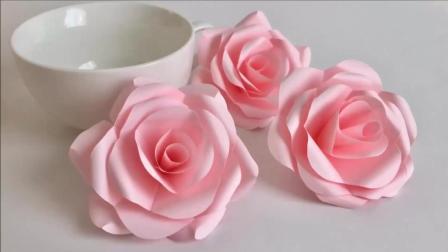 简单手工, 做一个好看的玫瑰花, 送给爱美的你, 祝大家每天都开心