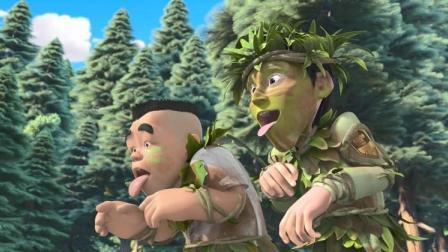 熊出没:二狗和大马猴竟假扮野人,骗取赵琳的食物,真是人心险恶