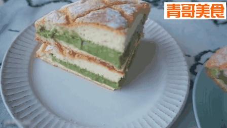 无油乡村海绵蛋糕+豆腐抹茶低脂卡士达