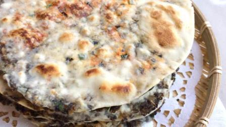 梅干菜烧饼的家常做法, 饼薄如纸香香脆脆, 已收藏