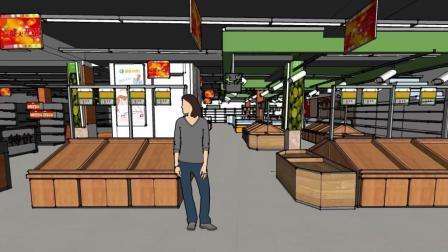 超市设计场景展示
