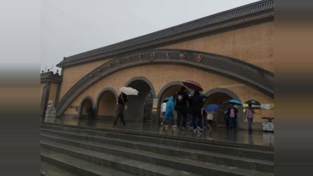 陕州地坑院旅游景点掠影一角 三门峡陕县地坑院