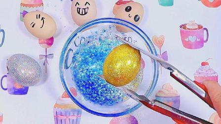 用鸡蛋加材料的方式来做泥, 结果会怎么样呢? 无硼砂DIY视频