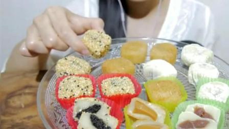 韩国吃货EDESIA, 试吃花生红豆黑芝麻糯米糍