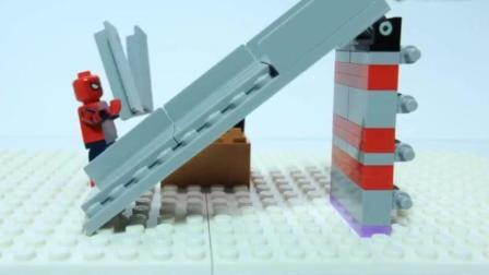 乐高定格动画: 乐高跟着绿巨人搭建游乐场