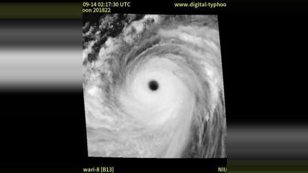 """201822超强台风""""山竹""""全程卫星云图"""