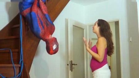 搞笑: 男子向怀孕妻子, 模仿蜘蛛侠求爱桥段