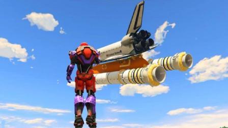 GTA5星尘: 钢铁万磁王能否吸起一艘2000多吨的满载火箭? !