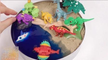 两个小恐龙过独木桥 谁也不让谁 到底该怎么办 儿童益智故事